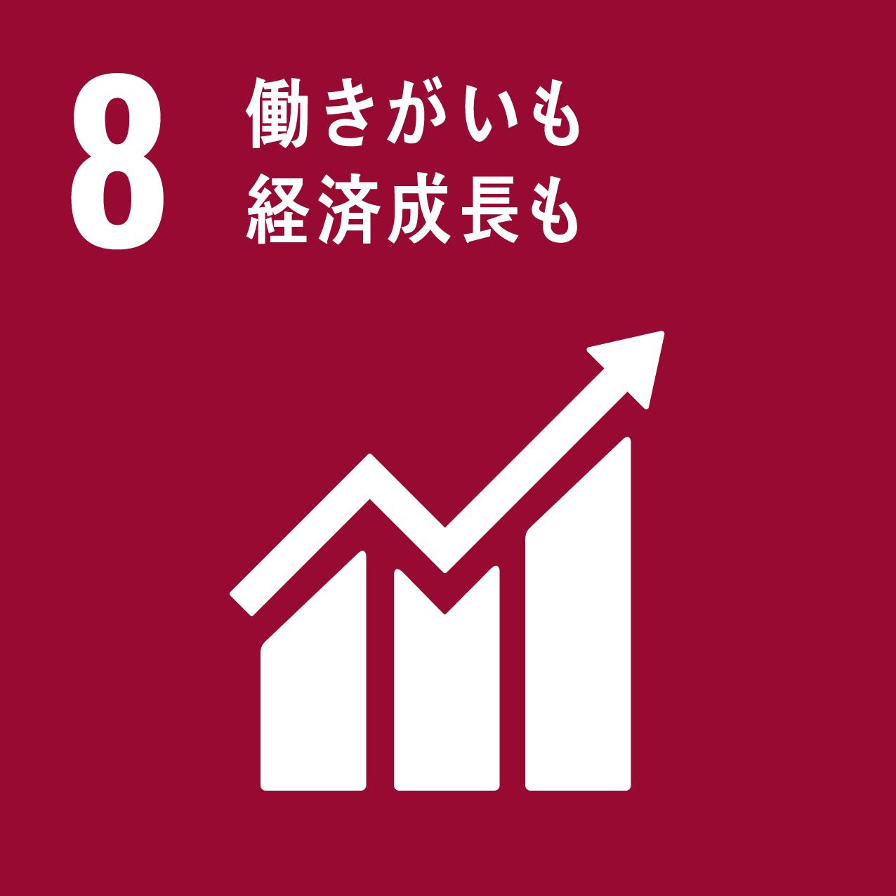SDGsアイコン8.働きがいも経済成長も