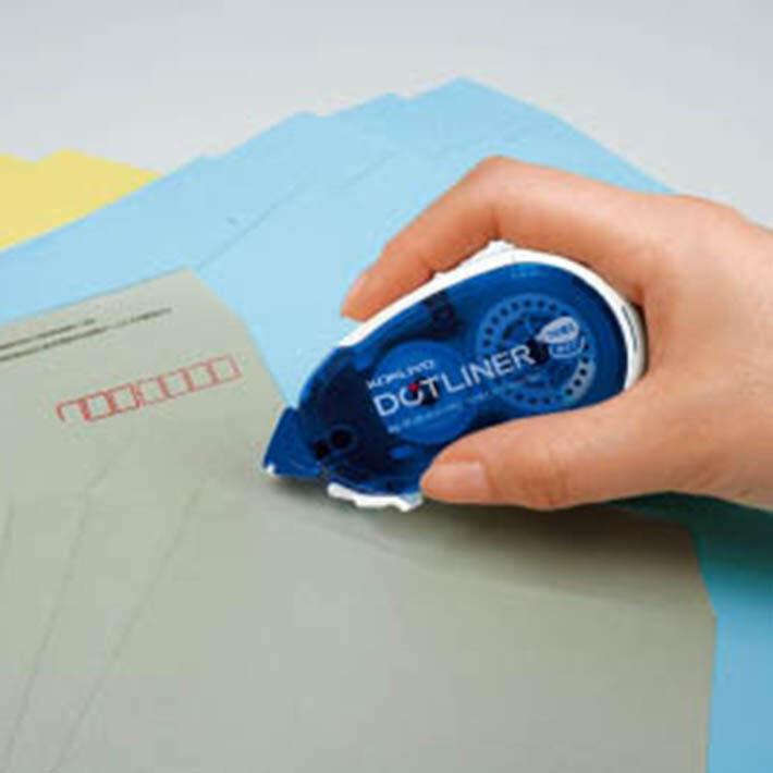 封筒への糊付けも簡単