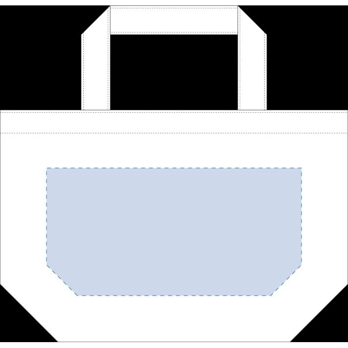 オーガニックコットンキャンバストート(S)ナチュラル 内ポケット