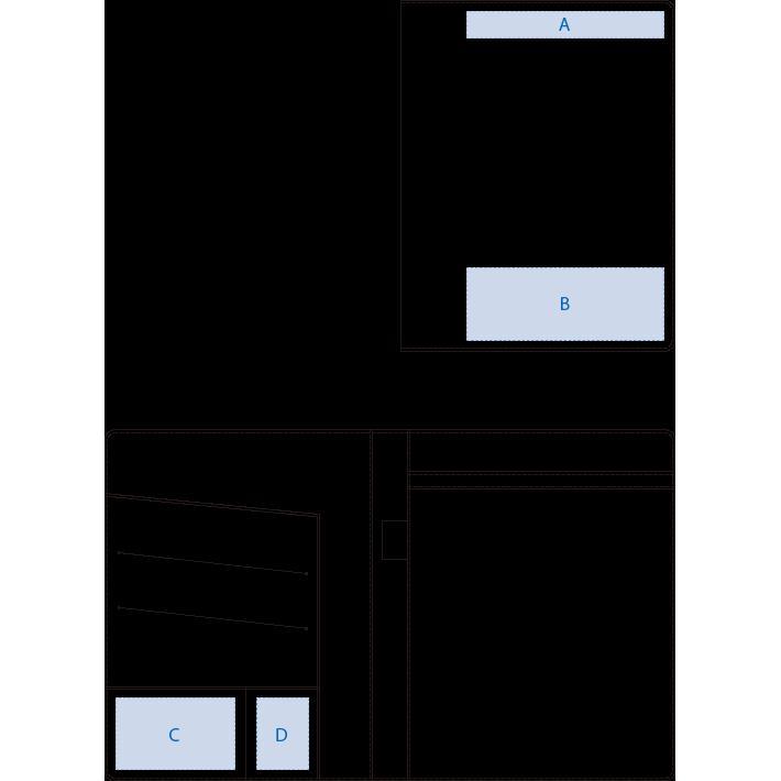 レザーA4レポートパットカバー
