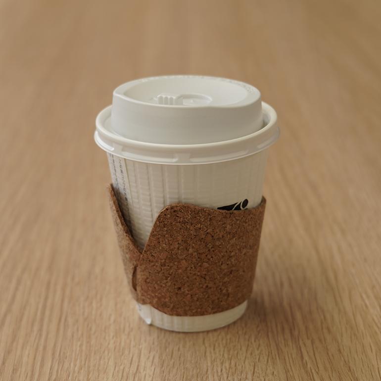 コルクコーヒーカップスリーブ