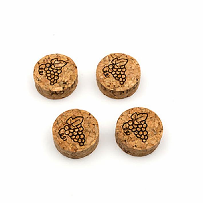 シャンパン栓のマグネット4個セット(リサイクルコルク)